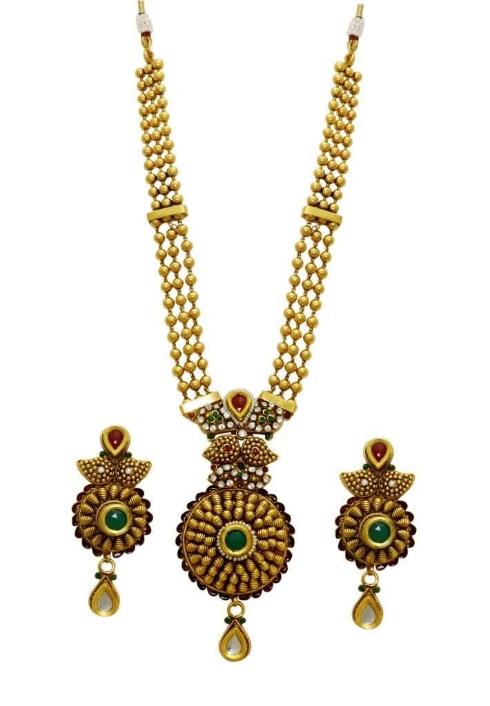 Buy LA TRENDZ  Traditional Pendent Multicolour Necklace Set For Women online