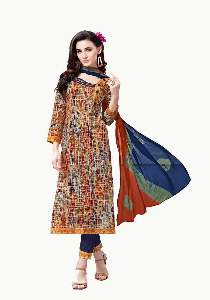 Buy Padmini Unstitched Printed Cotton Dress Material (product Code - Dtsjsuhana7003) online