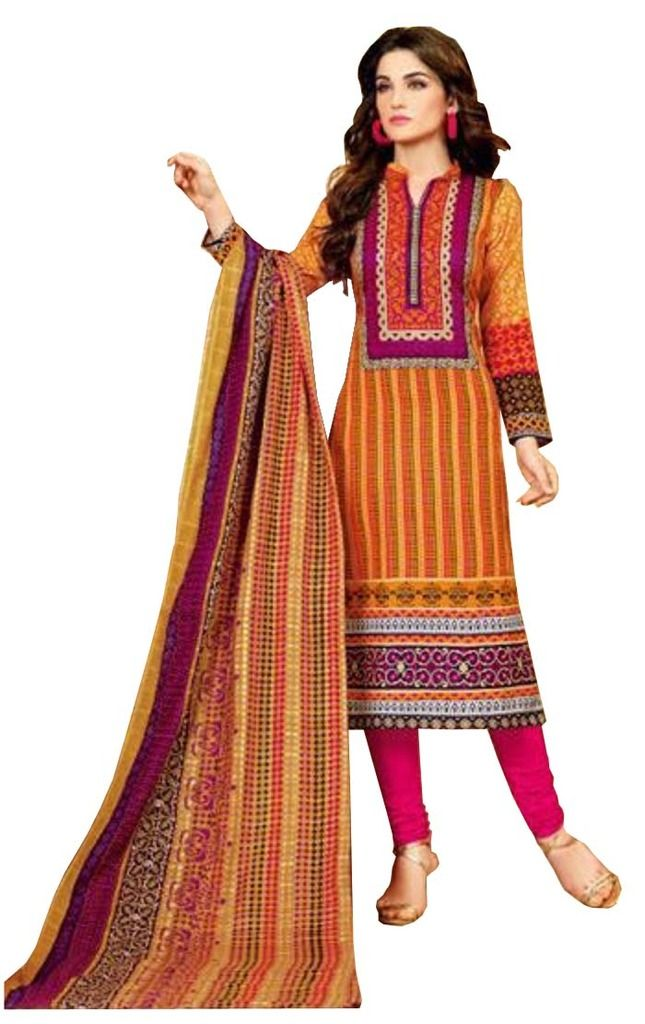 Buy Padmini Unstitched Printed Cotton Dress Material (product Code - Dtsjkashmiricot1004) online