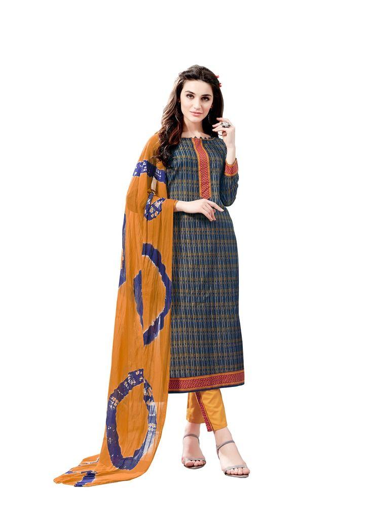 Buy Padmini Unstitched Printed Cotton Dress Material (product Code - Dtsjsuhana7004) online