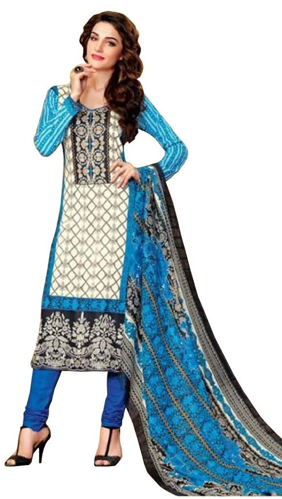 Buy Padmini Unstitched Printed Cotton Dress Material (product Code - Dtsjkashmiricot1007) online