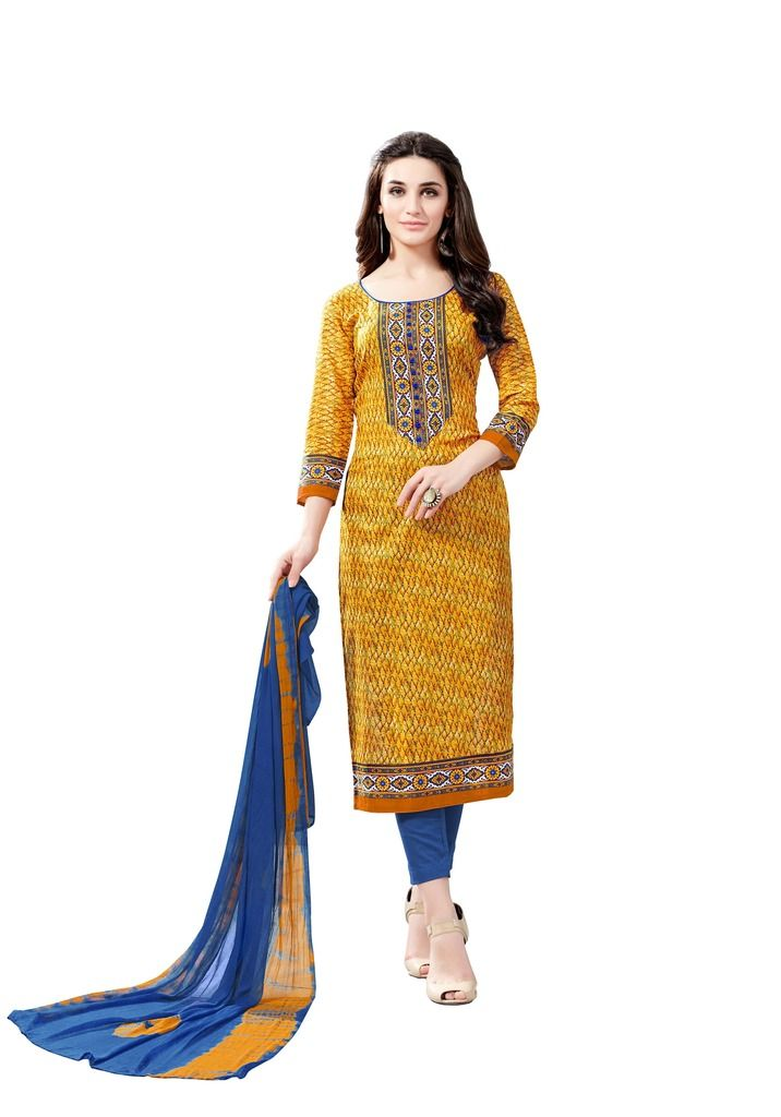 Buy Padmini Unstitched Printed Cotton Dress Material (product Code - Dtsjsuhana7009) online