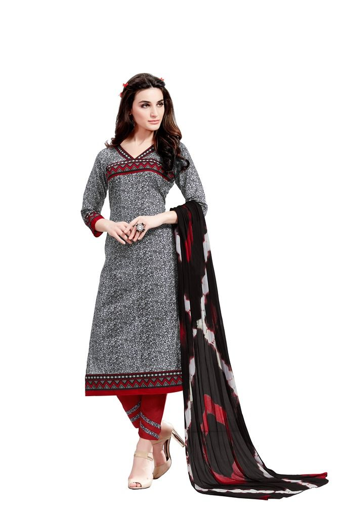 Buy Padmini Unstitched Printed Cotton Dress Material (product Code - Dtsjsuhana7010) online