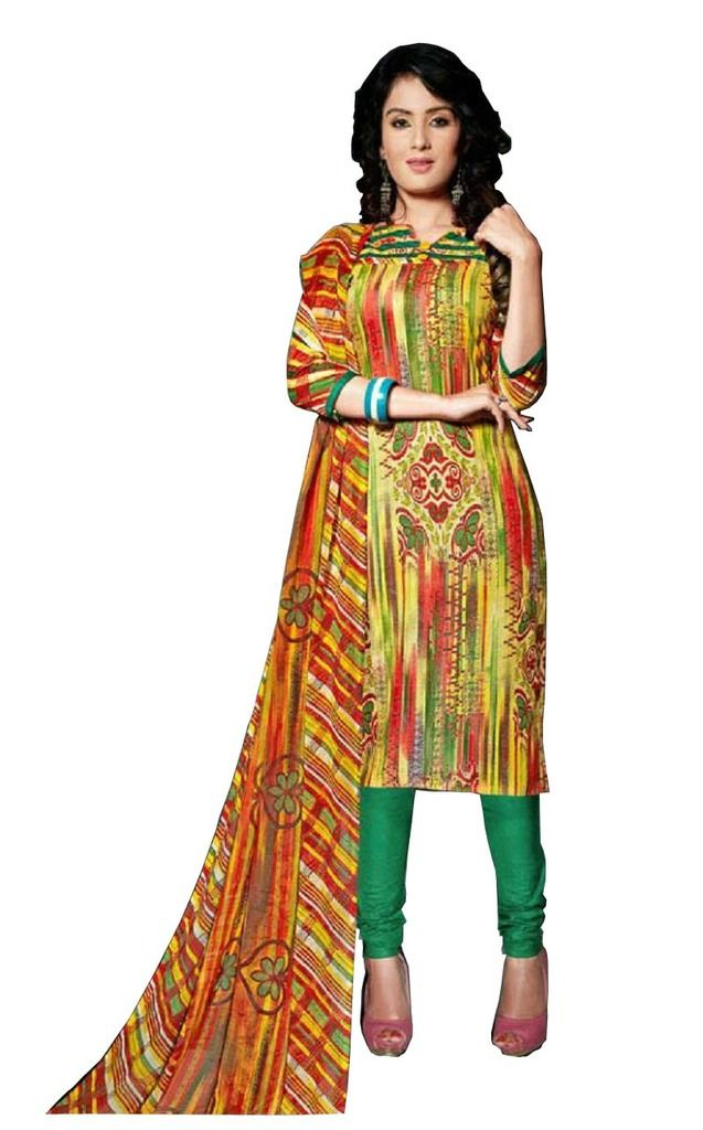 Buy Padmini Unstitched Printed Cotton Dress Material (product Code - Dtsjexotica1010) online