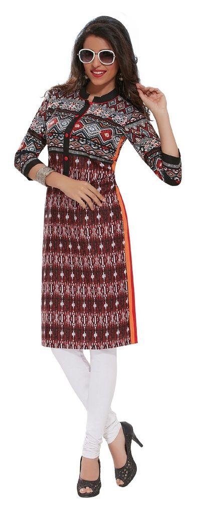 Buy Padmini Unstitched Printed Cotton Kurti Fabrics (product Code - Dtafpuregold3010) online