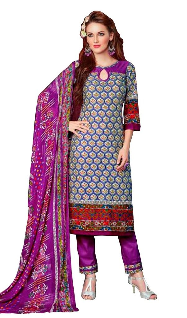 Buy Padmini Unstitched Printed Cotton Dress Materials (product Code - Dtsjnaira1011) online