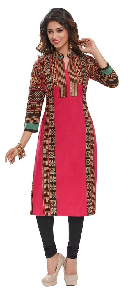 Buy Padmini Unstitched Printed Cotton Kurti Fabrics (product Code - Dtafpuregold3014) online