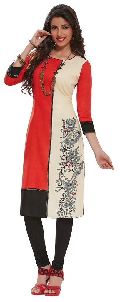 Buy Padmini Unstitched Printed Cotton Kurti Fabrics (product Code - Dtafpuregold3016) online
