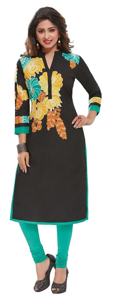 Buy Padmini Unstitched Printed Cotton Kurti Fabrics (product Code - Dtafpuregold3020) online