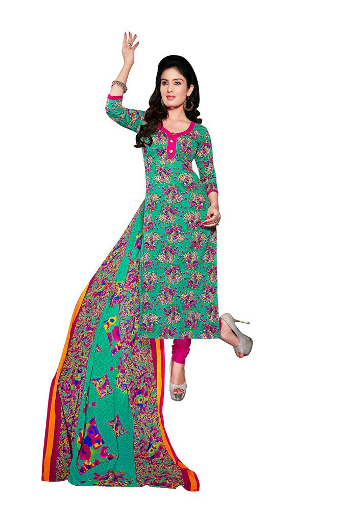 Buy Padmini Unstitched Printed Cotton Dress Material (product Code - Dtsjexotica1003) online