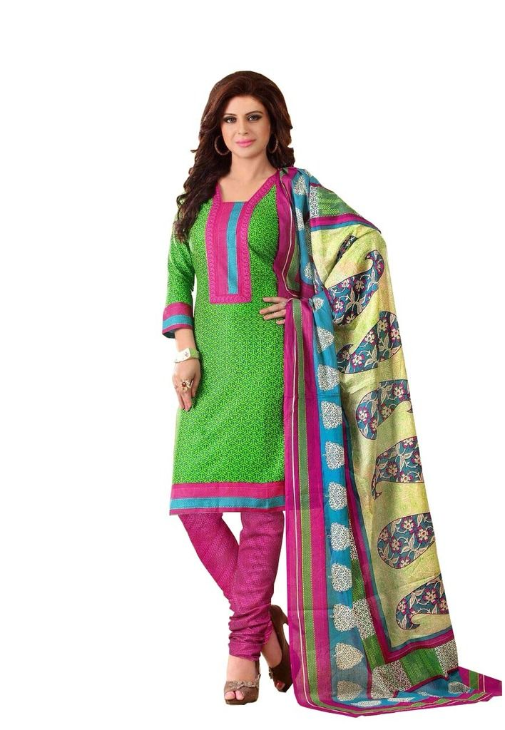 Buy Padmini Unstitched Printed Cotton Dress Material (product Code - Dtrfaaliya1003) online