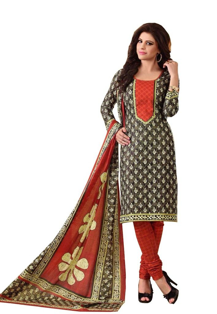 Buy Padmini Unstitched Printed Cotton Dress Material (product Code - Dtrfaaliya1006) online