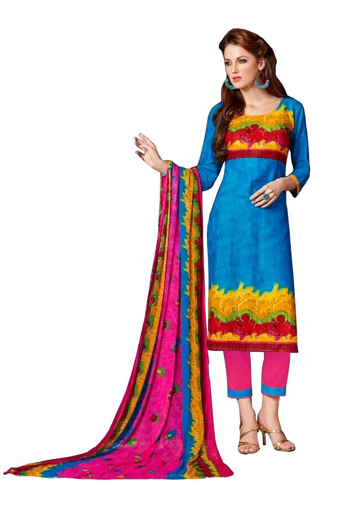 Buy Padmini Unstitched Printed Cotton Dress Materials (product Code - Dtsjnaira1007) online