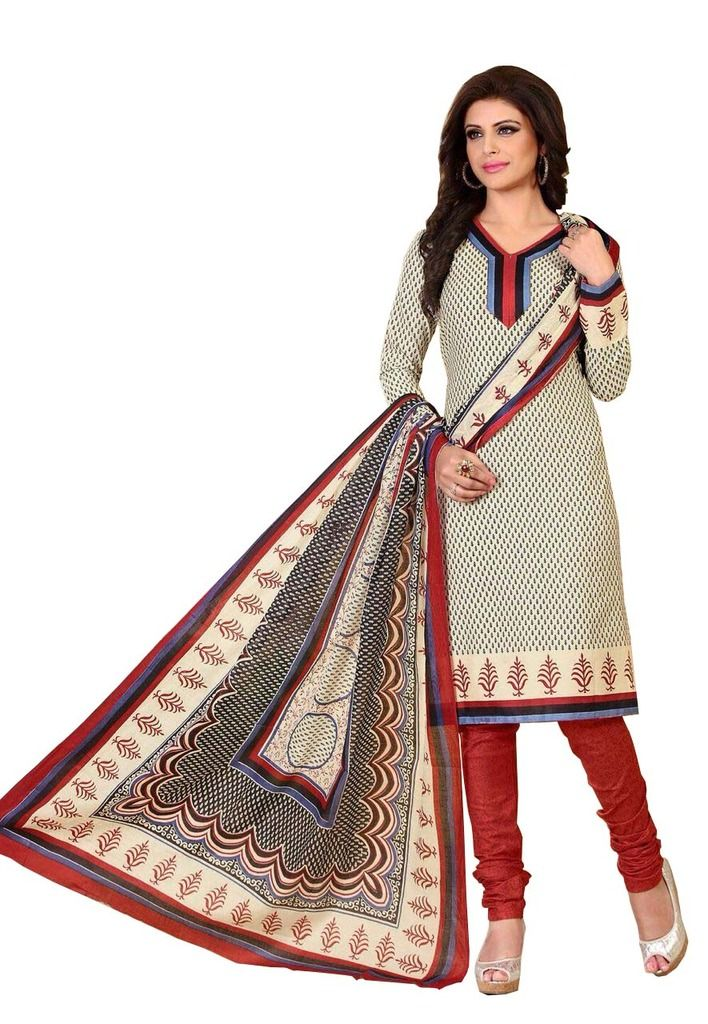 Buy Padmini Unstitched Printed Cotton Dress Material (product Code - Dtrfaaliya1007) online