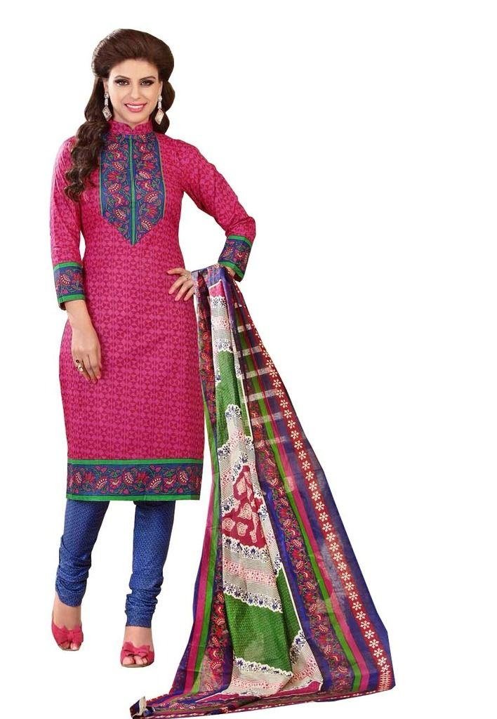 Buy Padmini Unstitched Printed Cotton Dress Material (product Code - Dtrfaaliya1011) online