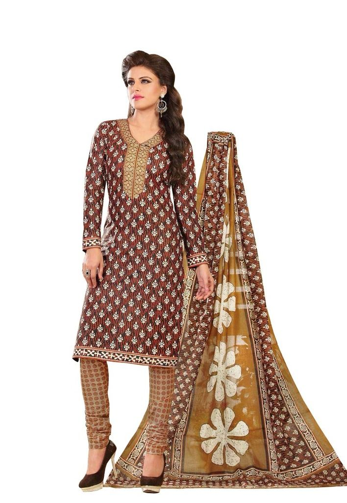 Buy Padmini Unstitched Printed Cotton Dress Material (product Code - Dtrfaaliya1013) online
