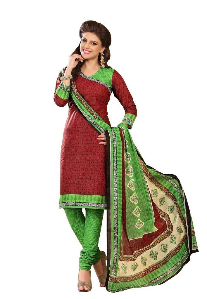 Buy Padmini Unstitched Printed Cotton Dress Material (product Code - Dtrfaaliya1017) online