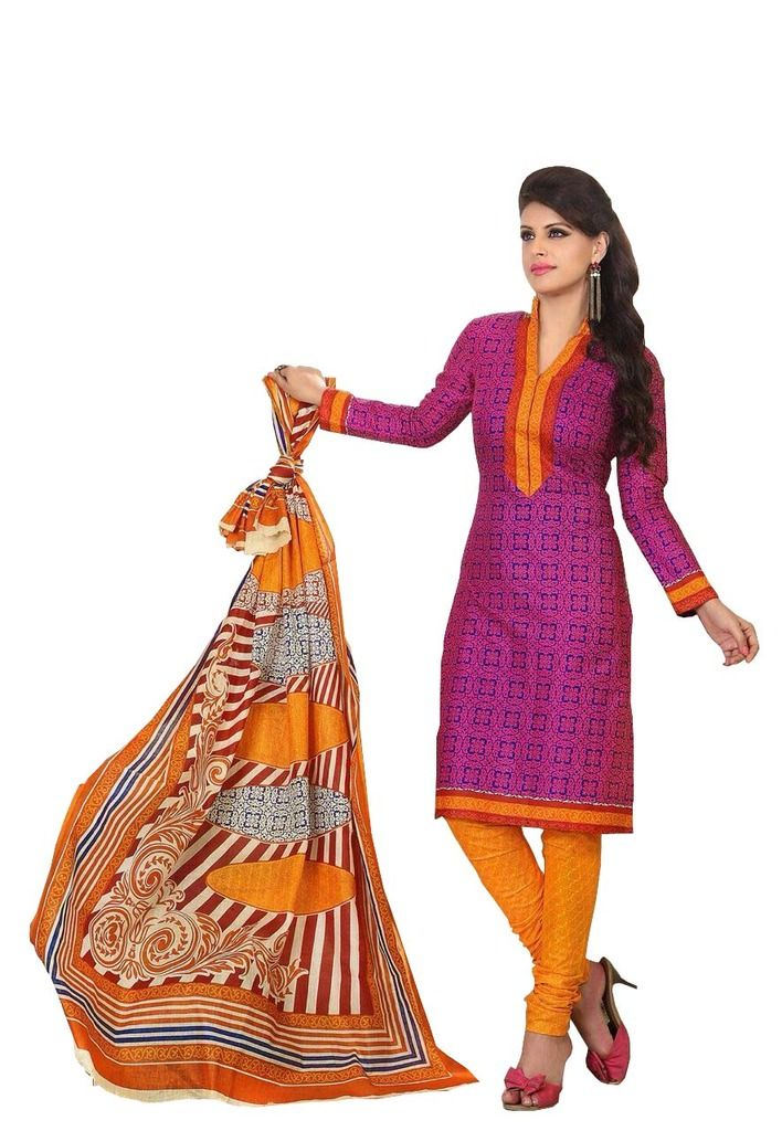 Buy Padmini Unstitched Printed Cotton Dress Material (product Code - Dtrfaaliya1019) online