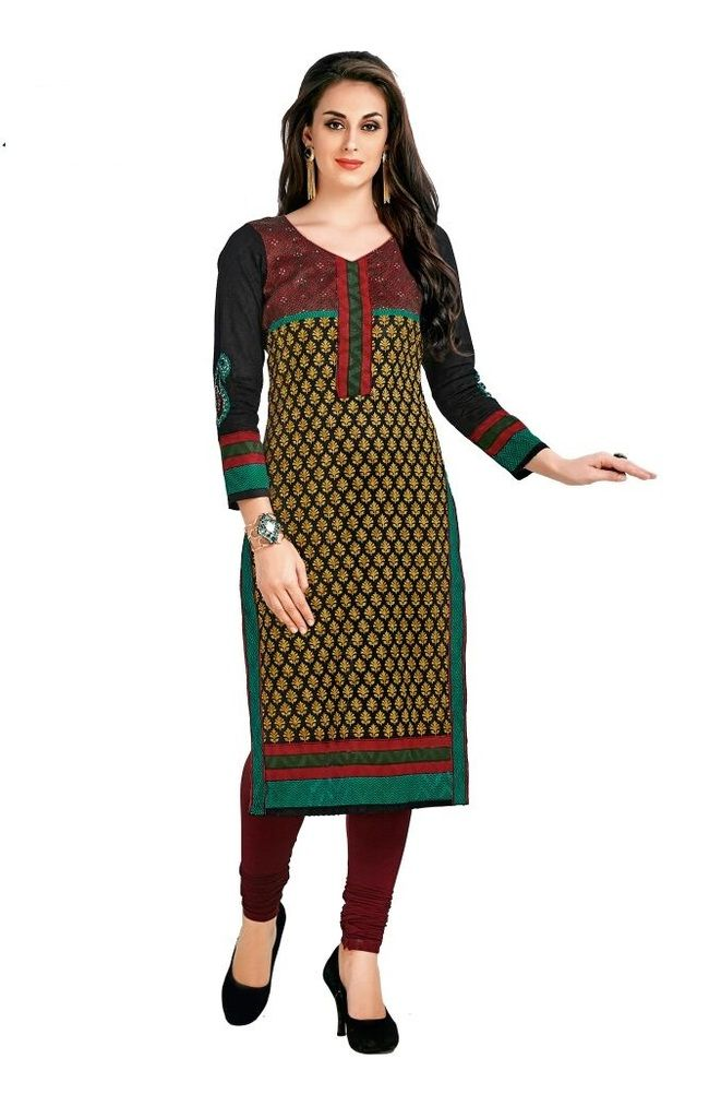 Buy Padmini Unstitched Printed Cotton Kurti Fabrics (product Code - Dtafcoolcot2105) online