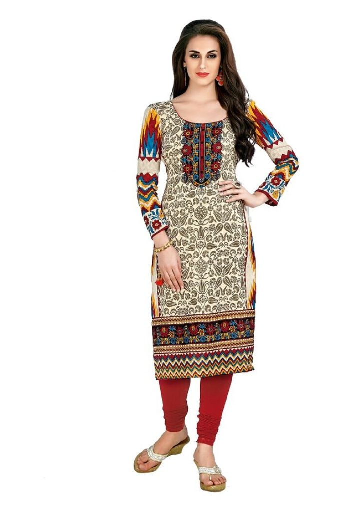 Buy Padmini Unstitched Printed Cotton Kurti Fabrics (product Code - Dtafcoolcot2107) online
