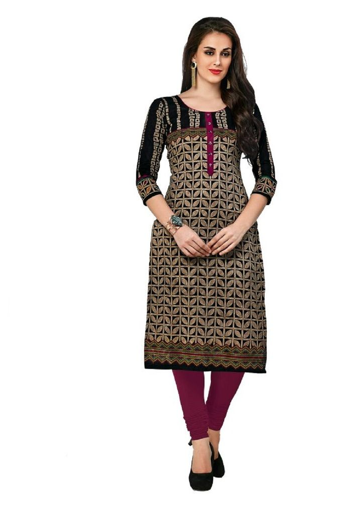 Buy Padmini Unstitched Printed Cotton Kurti Fabrics (product Code - Dtafcoolcot2108) online