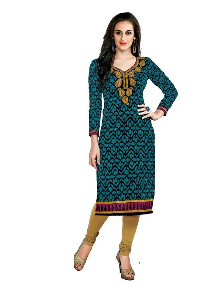 Buy Padmini Unstitched Printed Cotton Kurti Fabrics (product Code - Dtafcoolcot2109) online