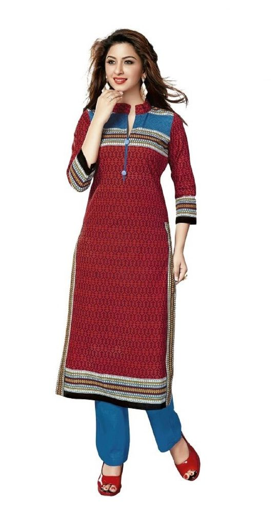 Buy Padmini Unstitched Printed Cotton Kurti Fabrics (product Code -dtkakavya1105) online