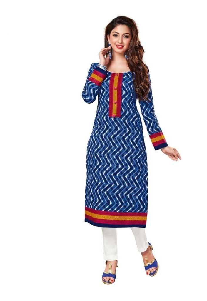 Buy Padmini Unstitched Printed Cotton Kurti Fabrics (product Code -dtkakavya1108) online