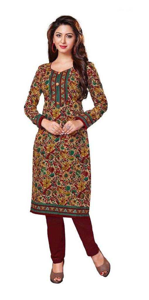 Buy Padmini Unstitched Printed Cotton Kurti Fabrics (product Code -dtkakavya1112) online