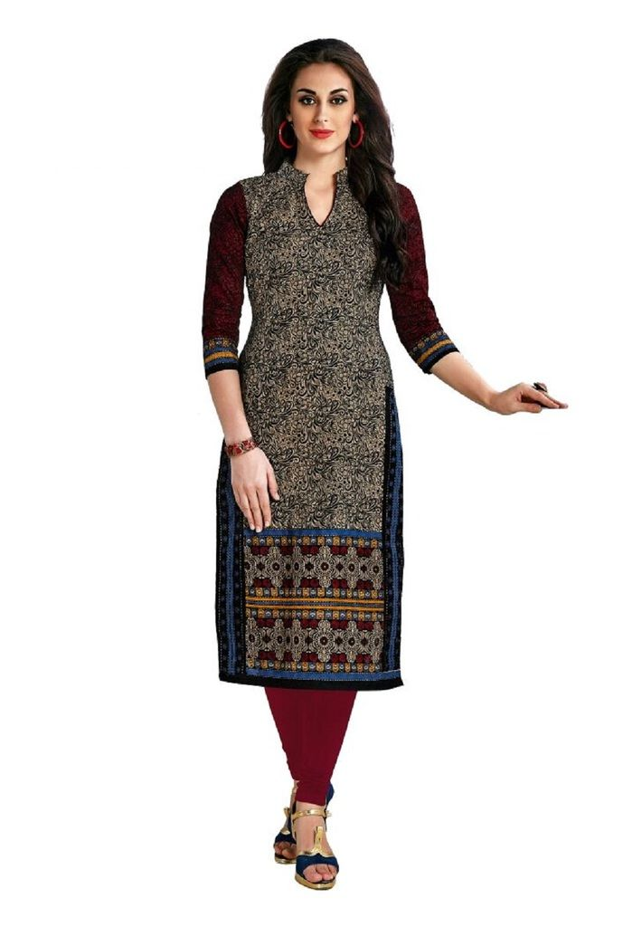 Buy Padmini Unstitched Printed Cotton Kurti Fabrics (product Code - Dtafcoolcot2114) online