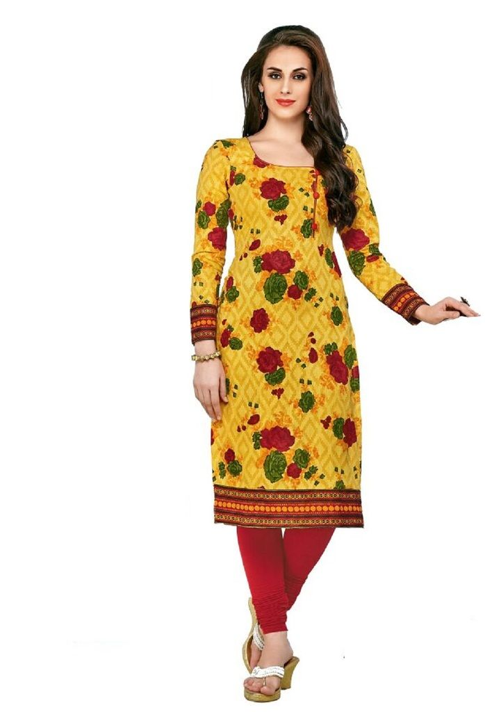 Buy Padmini Unstitched Printed Cotton Kurti Fabrics (product Code - Dtafcoolcot2115) online