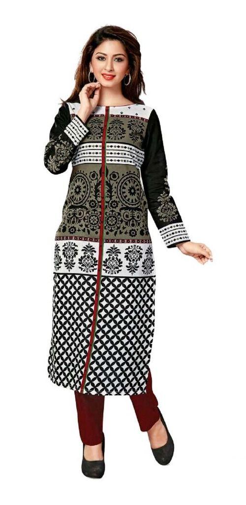 Buy Padmini Unstitched Printed Cotton Kurti Fabrics (product Code -dtkakavya1164) online