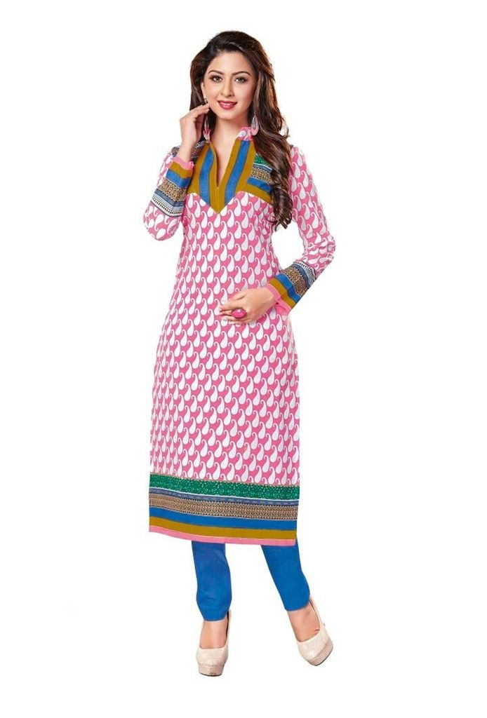 Buy Padmini Unstitched Printed Cotton Kurti Fabrics (product Code -dtkakavya1158) online