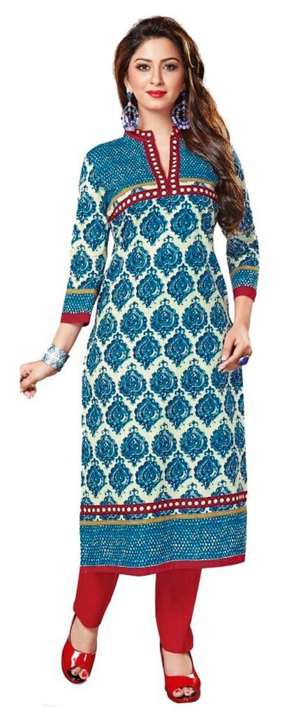 Buy Padmini Unstitched Printed Cotton Kurti Fabrics (product Code -dtkakavya1162) online