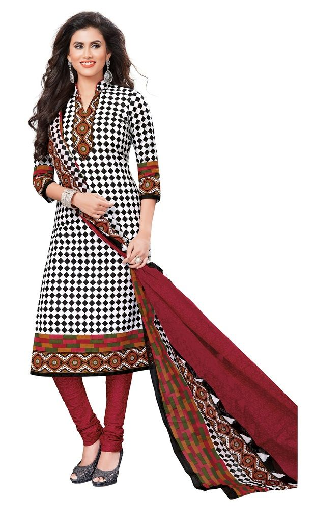 Buy Padmini Unstitched Printed Cotton Dress Materials Fabrics (product Code - Dtvcshrutika2010) online