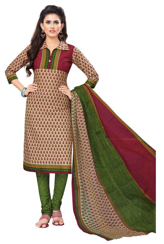 Buy Padmini Unstitched Printed Cotton Dress Materials Fabrics (product Code - Dtvcshrutika2012) online