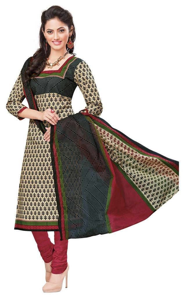 Buy Padmini Unstitched Printed Cotton Dress Materials Fabrics (product Code - Dtvcshrutika2016) online