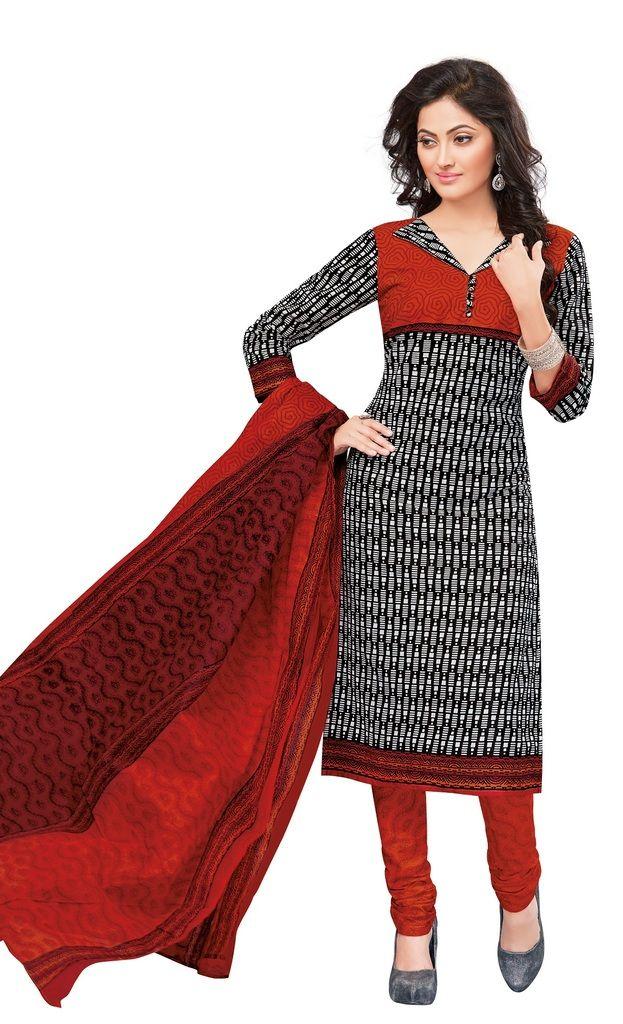 Buy Padmini Unstitched Printed Cotton Dress Materials Fabrics (product Code - Dtvcshrutika2021) online