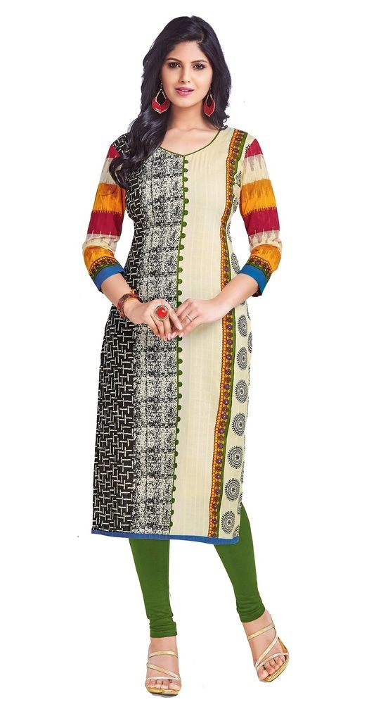 Buy Padmini Unstitched Printed Cotton Kurti Fabrics (product Code - Dtkapriya2151) online