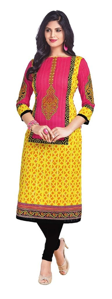 Buy Padmini Unstitched Printed Cotton Kurti Fabrics (product Code - Dtkapriya2153) online