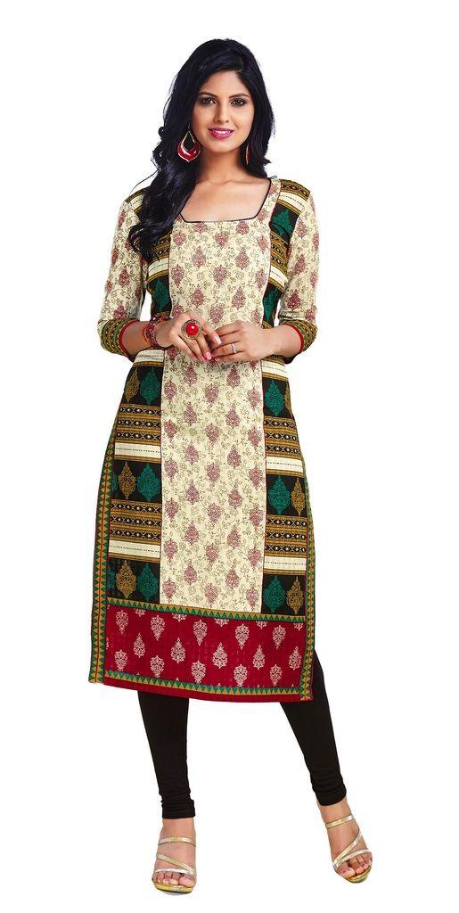 Buy Padmini Unstitched Printed Cotton Kurti Fabrics (product Code - Dtkapriya2158) online