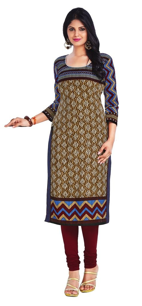 Buy Padmini Unstitched Printed Cotton Kurti Fabrics (product Code - Dtkapriya2164) online