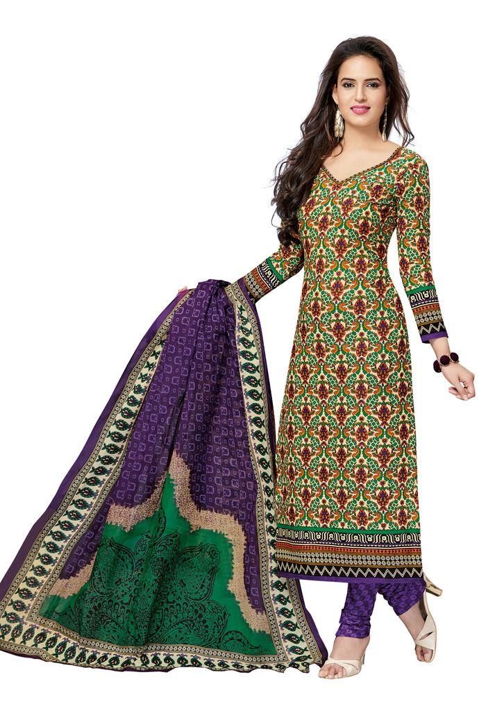 Buy Padmini Unstitched Printed Cotton Dress Materials Fabrics (product Code - Dtvcsonpari2515) online