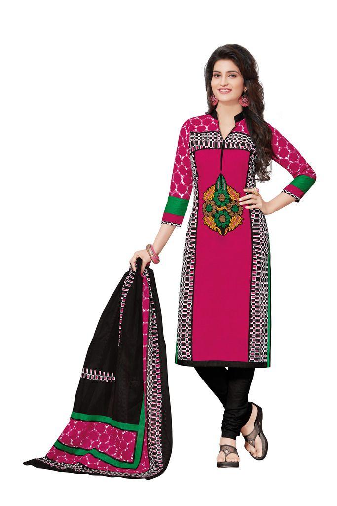 Buy Padmini Unstitched Printed Cotton Dress Materials Fabrics (product Code - Dtafspl2601) online