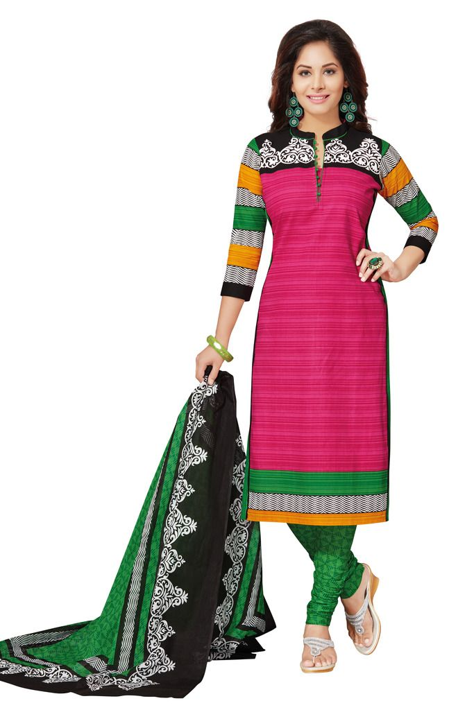 Buy Padmini Unstitched Printed Cotton Dress Materials Fabrics (product Code - Dtafspl2605) online
