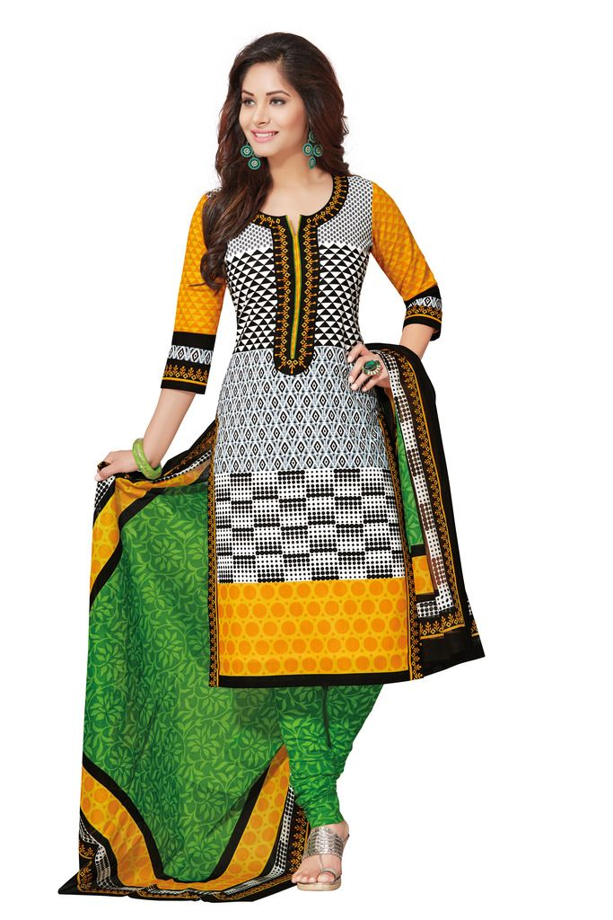 Buy Padmini Unstitched Printed Cotton Dress Materials Fabrics (product Code - Dtafspl2610) online