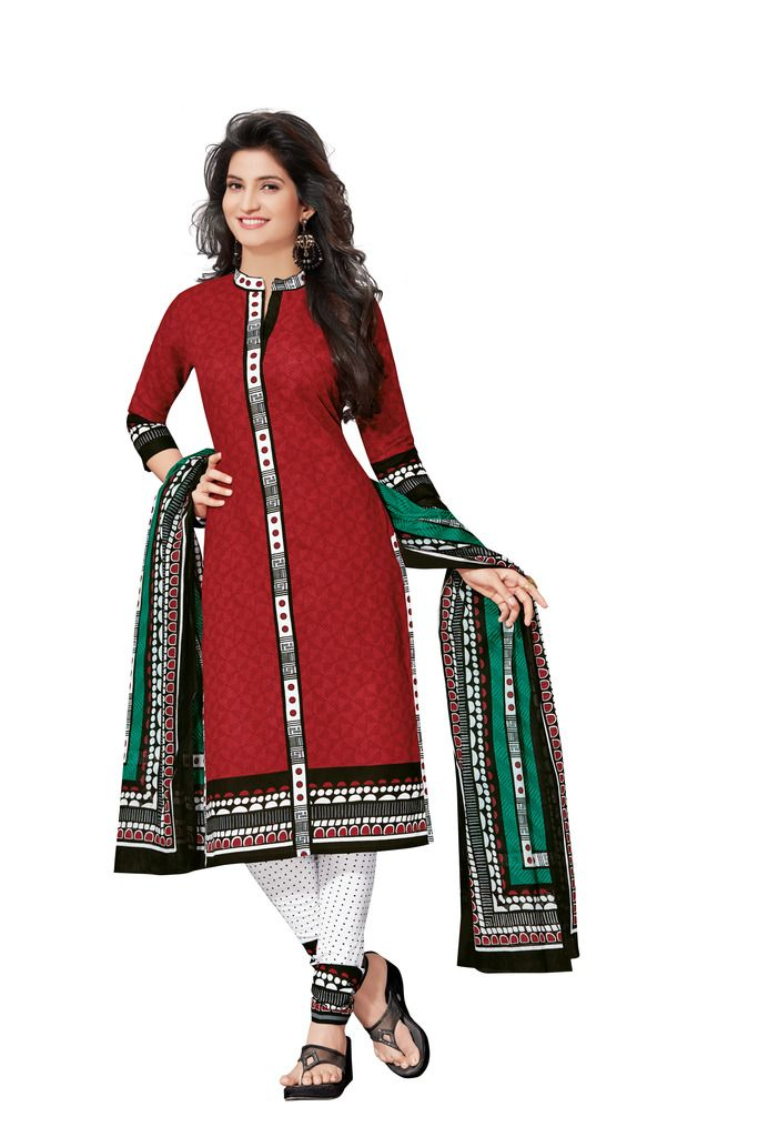 Buy Padmini Unstitched Printed Cotton Dress Materials Fabrics (product Code - Dtafspl2611) online