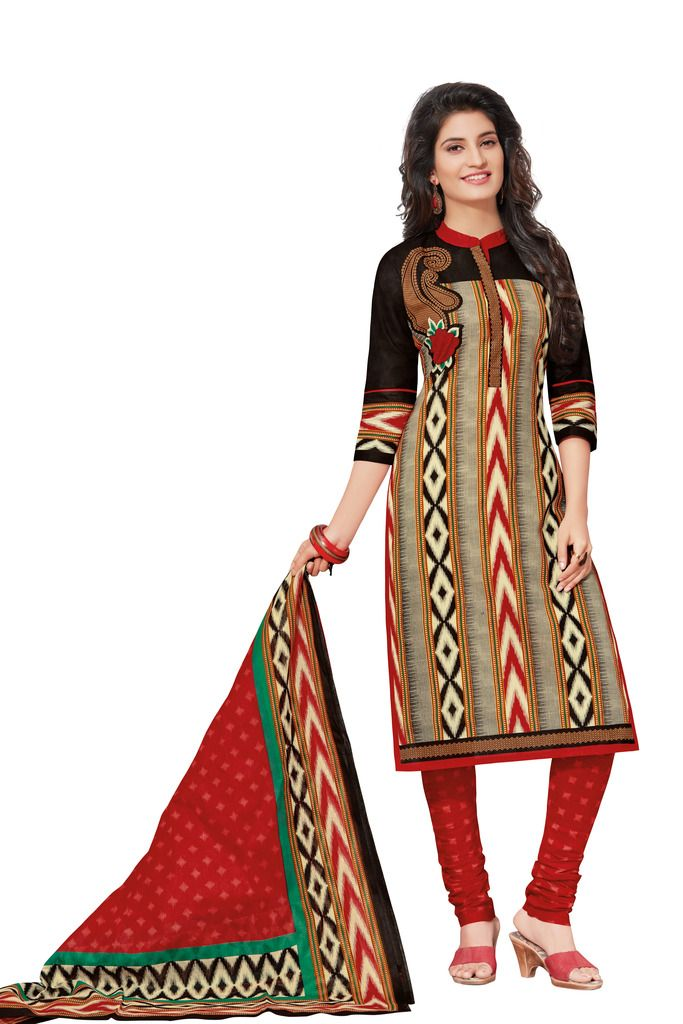 Buy Padmini Unstitched Printed Cotton Dress Materials Fabrics (product Code - Dtafspl2615) online