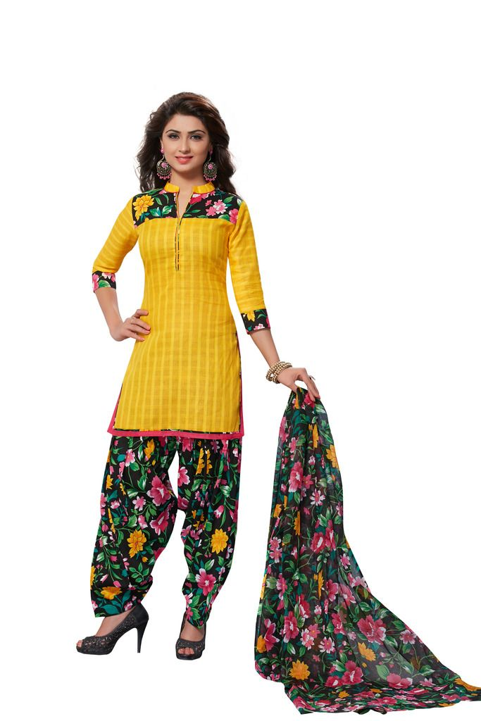 Buy Padmini Unstitched Printed Cotton Dress Material (product Code - Dtafmahi2702) online