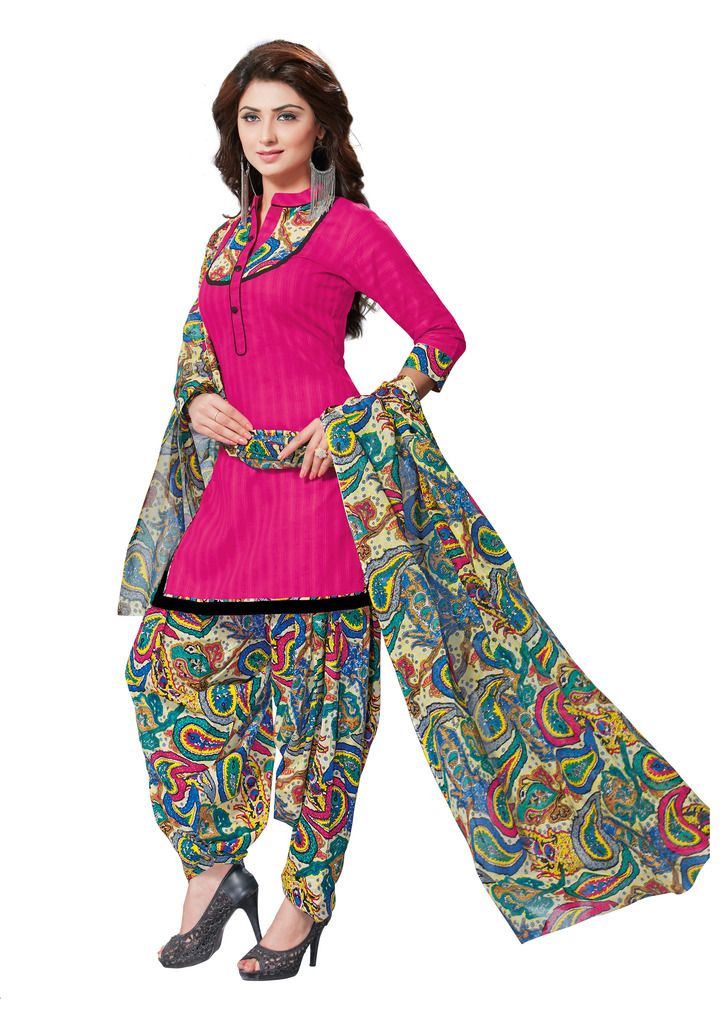 Buy Padmini Unstitched Printed Cotton Dress Material (product Code - Dtafmahi2706) online